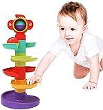 GLOBAL IGO 5 Couche Ball Drop and Roll tourbillonnement Tour Jouets pour bébé pour 1 an, Le développement des Jeunes Tout-Petits Jouets éducatifs, Cadeaux pour Les garçons Bébés Filles 9 Mois Plus
