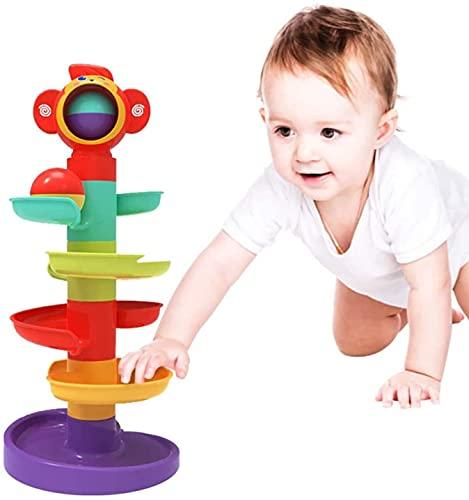 GLOBAL IGO 5-Layer Ball Drop und Roll Twirling Tower Baby Spielzeug für 1-jährige, Kleinkind Frühe Entwicklung Pädagogisches Spielzeug, Geschenke für Baby Jungen Mädchen 9 Monate Plus