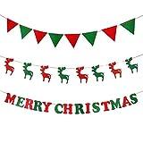 Anaoo 3pcs Juego de Banner Feliz Navidad Banne, Guirnaldas Banner,Pancartas...