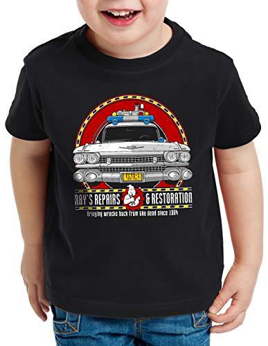 style3 ECTO-1 Repair Camiseta para Niños T-Shirt Cazafantasmas ecto1