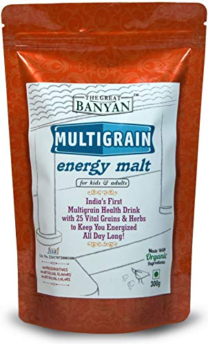Multigrain Energy Malt 100% Natural Homemade & Organic Health Drink for Kids & Adults- 300g