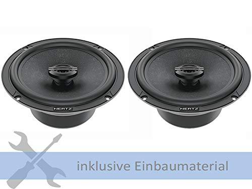 Hertz Lautsprecher CX165 420 Watt 165 mm Koax für VW Polo (AW) ab 2017 Einbauort: Türen vorne/hinten