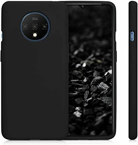 BNBUKLTD Funda de gel de silicona compatible con OnePlus 7T, color negro mate y lápiz capacitivo