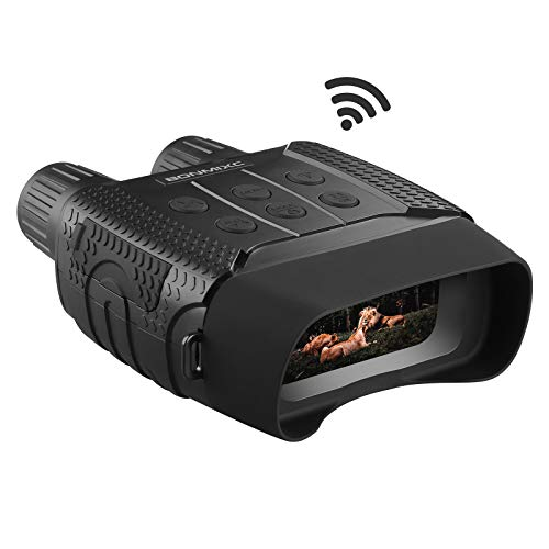 BONMIXC Night Vision Binoculars Wi-Fi Night Vision Goggles 7 Levels Infrared 32GB Memory Card HD Photo 960P Video
