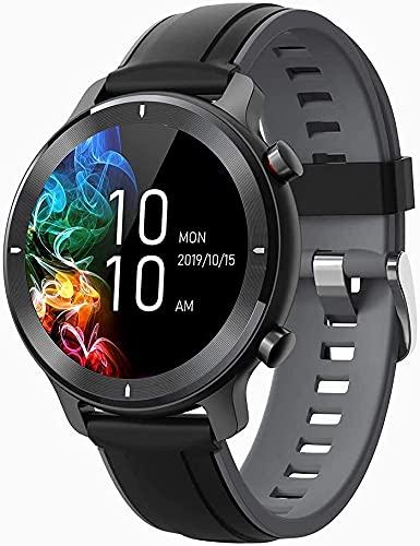 LQLD Reloj Inteligente para Hombres y Mujeres Reloj de Seguimiento de Actividad física táctil Completo de 1,3 con podómetro Monitor de Ritmo cardíaco Monitor de sueño IP68 a Prueba de Agua