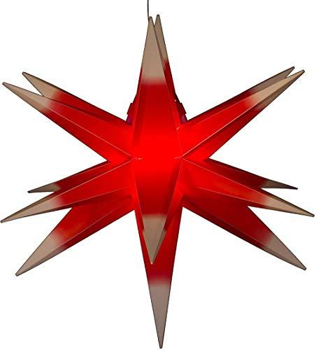 Luces de estrella de explosión de Navidad, 55 cm, estrellas luminosas plegables, luces de estrellas, estrellas que vienen de extranjeros, luces de decoración navideña, no requiere transformador.