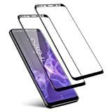 Galaxy S9 Plus Screen Protector (2 Packs), Basesailor Anti-Scratch, HD Clear, Case Friendly 3D Curved Protective Tempered Glass Compatible Samsung Galaxy S9 Plus (Not Galaxy S9) (Black)
