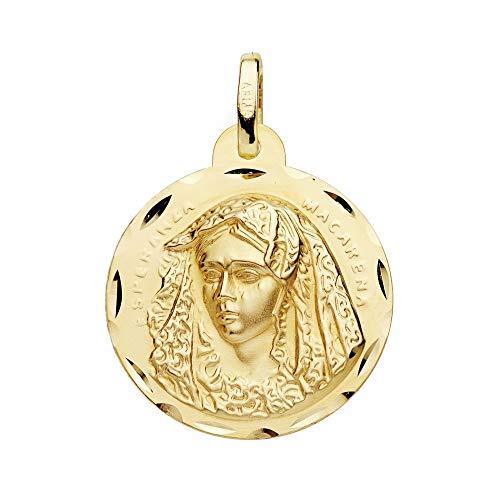 Escapulario Oro 18K 24mm. Cristo Gran Poder Virgen Macarena [Ab9410]