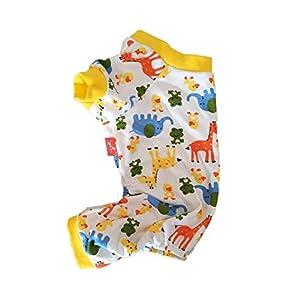 Augneveres Chiot Pyjama Doux Ange Pyjama Animaux de Couchage Combinaison en Coton à Quatre Pattes Vêtements pour Petits Chiens de Taille Moyenne