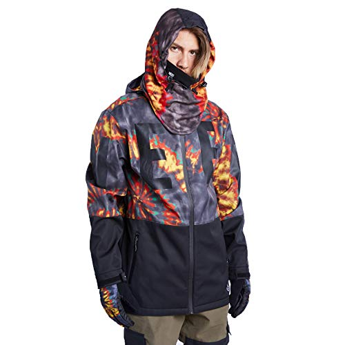 NEFF Men's Daily Softshell Snow Snowboard & Ski Jackets, Rasta/Black, Medium