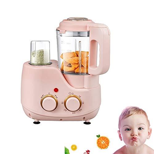 Angela Küchenmaschine für Babynahrung mit Dampfkorb, Mixer, Dampfgarer, Drehknopf-Bedienfeld, Abschaltautomatik, für Kleinkinder, Kleinkindernahrung, 1,1 l