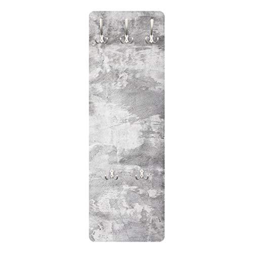 Bilderwelten Wandgarderobe + Haken Wandmontage Industrie Look Betonoptik 139 x 46 cm