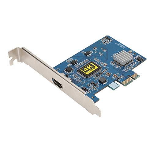 Goshyda Scheda di Acquisizione da PCI-E a HDMI, Scheda di Acquisizione Video Ad Alta Definizione PVC Broad PCI-E a HDMI Supporto 4K 30Hz con Compact Disk per Windows XP SP2/Vista/Win7/Win8