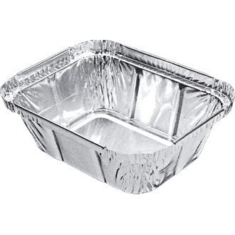 Take Away/Cafe/cas rectangulaire en aluminium boîte (chinois/indien) – 435 ml 146 x 120 mm (Lot de 1000) – Simple jetables alimentaire Service, idéal pour une utilisation professionnelle ou les fêtes