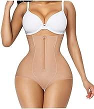 Gotoly Women Butt Lifter Shapewear Panties Waist Trainer Body Shaper Hi-Waist Double Tummy Control Slim Panty (Beige, Large)