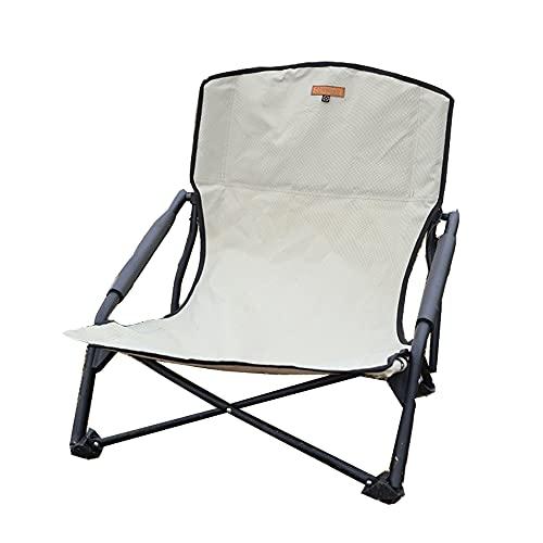 S'more(スモア) IronLow Armchair アウトドアチェア キャンプ チェア 椅子 折り畳み 折りたたみ椅子 アウトドア おしゃれ 鉄 ローチェア オックスフォード 収納袋付き (BEIGE)