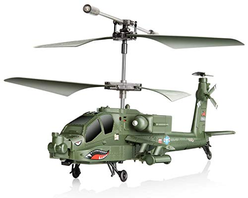 POCO DIVO Apache AH-64 Helicopter RC Flight Infrared 3CH AH64 S109 Gyro Military Aircraft Model S109G