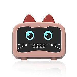 Relojes Bluetooth, Altavoz Bluetooth inalámbrico multifuncional Reloj despertador portátil innovador Altavoz pequeño, Altavoz Bluetooth