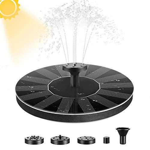 Solar Springbrunnen,E-More 1,4W Solar Teichpumpe mit 6 Düsen Monokristalline Solar Wasserpumpe Einfache Installation Solar schwimmender Fontäne Pumpe für Gartenteich Oder Springbrunnen Fisch-Behälter
