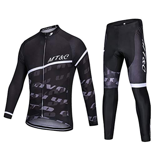 ETScooter Oft Long Sleeve Breathable Bicycle Cycling Jersey Polyester Clothing Outdoor Sports Fall Autumn (Size : XS)