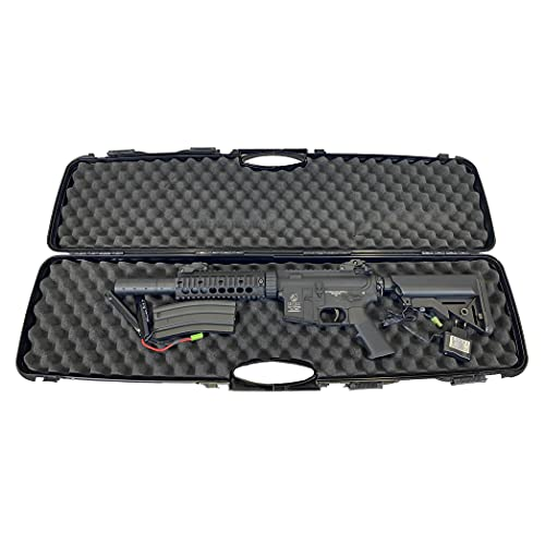 Colt Fucile M4 Da Softair Elettrico AEG Potenza 0,9 Joule, Peso 3375g, Lunghezza 72-81cm, Sparo Singolo/Raffica, Colore Nero, Materiale Full Metal, Caricatore 300 Pallini + Valigetta Nera Rigida.