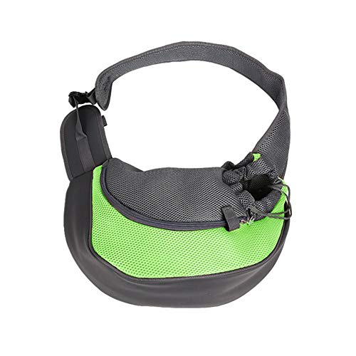 WOIA Travel Pet Puppy Dog Carrier Mochila Tote Bandolera Mesh Sling Carry Pack, Verde, S