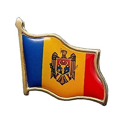 Froiny 1 Unid Euro República De Moldova Bander Pin Badge Metal Solamble Pin Branque Bandera De Euro Insignias Nacionales
