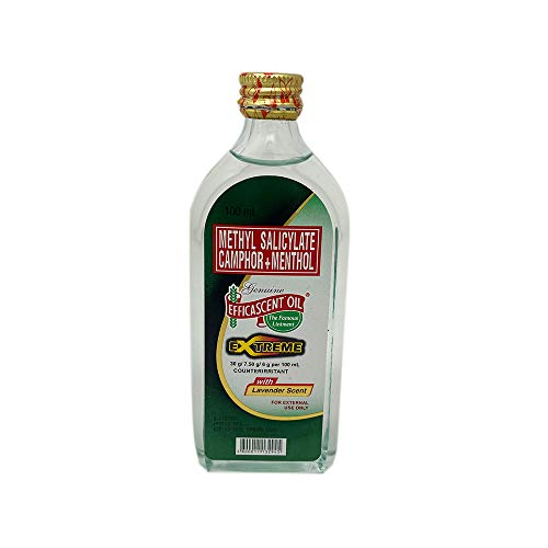 Efficascent Oil Extreme Strength Methyl Salicylate Camphor Menthol with Lavender Scent 100ml