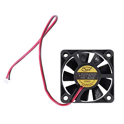 cherrypop 50 mm x 50 mm x 10 mm 5010 12 V 0,1 A ventilador de refrigeración sin escobillas de 2 pines
