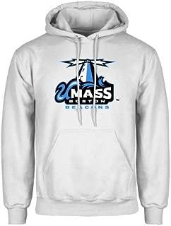 CollegeFanGear UMass Boston White Fleece Hoodie 'Primary Logo'