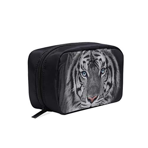 Bolsas Organizador de viajes Rara y hermosa bolsa de colección de maquillaje de tigre blanco Bolsa de viaje de moda para mujer Bolsa de aseo de diseñador Bolsas de cosméticos Estuche multifunción Bol