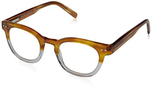 Eyebobs Waylaid 2231-19 Classic Reading Glasses,Amber & Crystal,46 mm