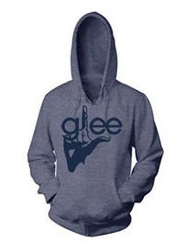 Unbekannt Glee TV Show Finger Logo Junior Heather Sweat à capuche Bleu marine - Bleu - Small