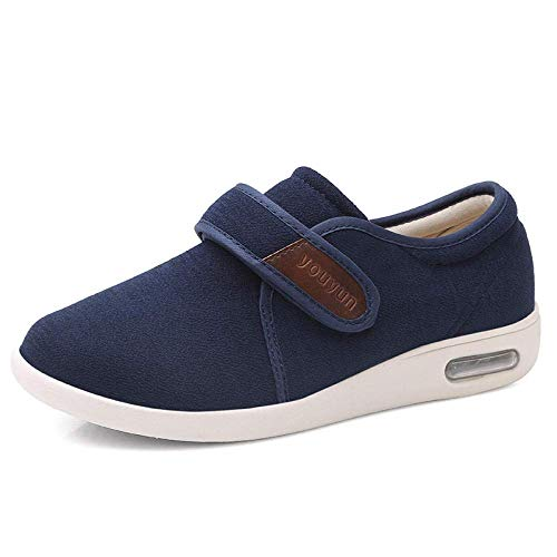 DXDUI Zapatos diabéticos para Hombres, Zapatos más Viejos para otoño e Invierno, Zapatos Deportivos para Hombres.