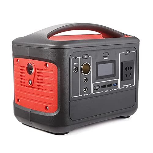 ALX-Dec Central eléctrica 568Wh 153600mAh Generador de Camping al Aire Libre Lithium-Batterie 500W / Peak 1000W,Rojo