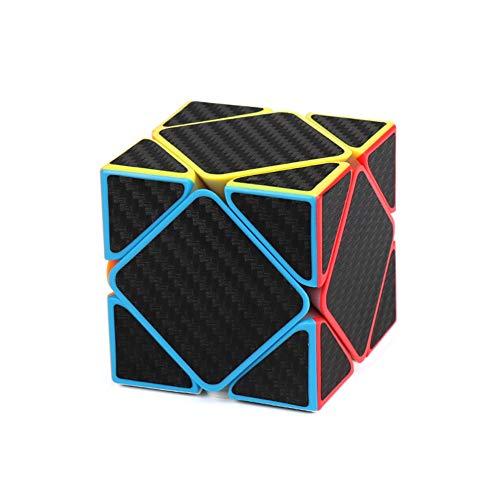 nacai Cubos de Velocidad Suave, Cubo de Rompecabezas 3D con Adhesivo de Fibra de Carbono de Colores Vivos Cubo mágico Suave,F