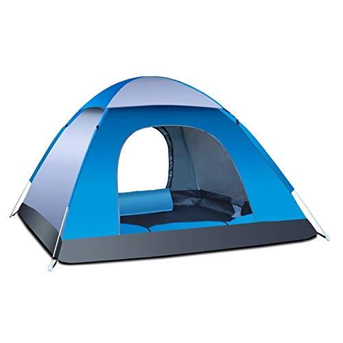 Tent Automatique Pop Up Outdoor Famille Camping 1/2/3/4 Personne Plusieurs modèles Easy Open Camp Ultraléger instantané Ombre (Color : Gray Blue3 4 Man)