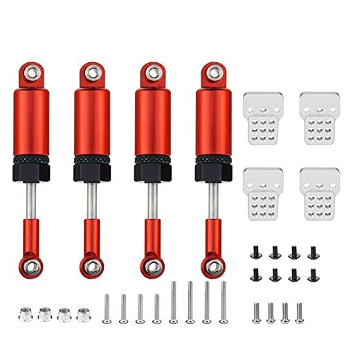 YZSM Juego de Piezas de actualización Amortiguadores para Coche RC 1/16 camión para WPL C14 C24 ( Color : Rojo )