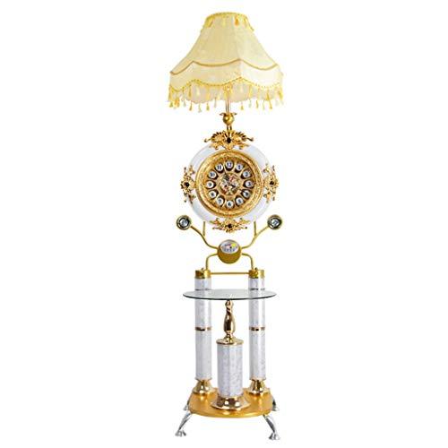 Lámpara de pie de estilo europeo para el suelo del té, el salón, el dormitorio, el estudio, la creativa, la música, el salón (color: botón pulsador)