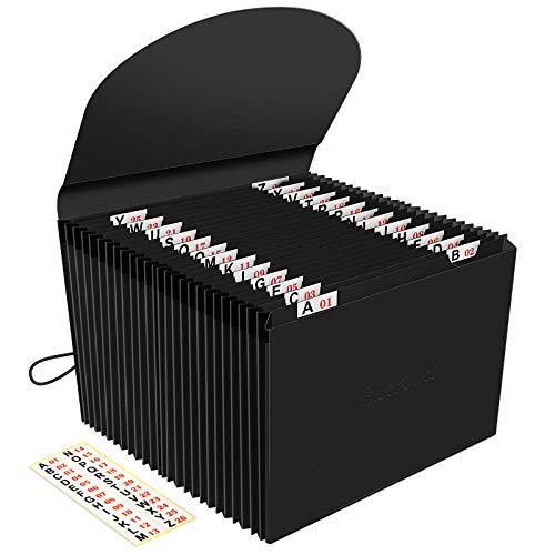 Carpeta Clasificadora 26 Bolsillos/Archivador Acordeon Carpetas,Acordeón Separadores/A4 Archivadores Papeles Clasificador Documento Organizador,Extensible...