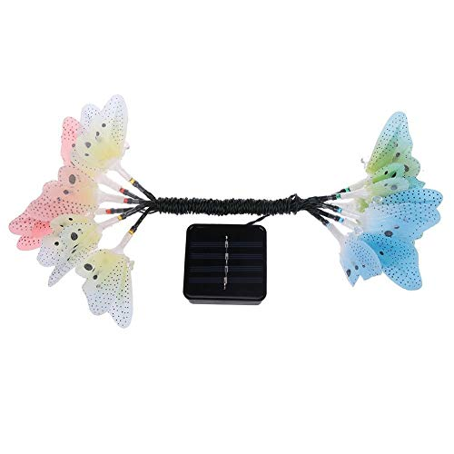Solar Lighting Outdoor Garden Lights Butterfly Garden Solar Lights Outdoor, 4 Pack Solar Stake Light Multi-Color Changing LED Garden Lights Fiber Optic Butterfly Outdoor Party Decorations Lightings fo