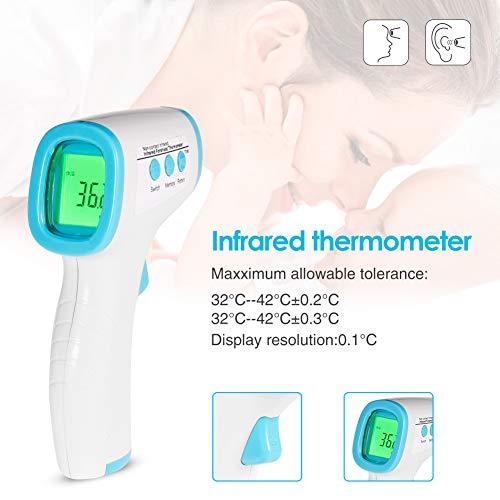 1pcs Term/ómetro de mano,Temperatura con Pantalla LCD sin Contacto Cuerpo Term/ómetro DaoRier Term/ómetro De infrarrojos para O/ído Frente
