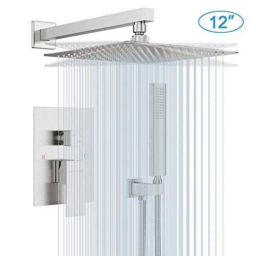 EMBATHER Shower System- Brushed Nickel Shower Faucet Set for Bathroom- State-of-the-art Air...