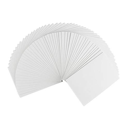 Klappkarten-Set blanko | 50 Faltkarten | Karten zum Selbstgestalten | ideal zum Basteln von Grußkarten & Einladungskarten | Din C6 (10,5 cm x 14,8 cm) | 230 g/m² | weiß | 50 Stück
