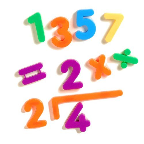 Constructive Playthings 2 1/2 Giant Magnetic Number Set of 27 Numbers and Math Symbols for Ages 3 Years and Up
