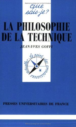 La philosophie de la technique