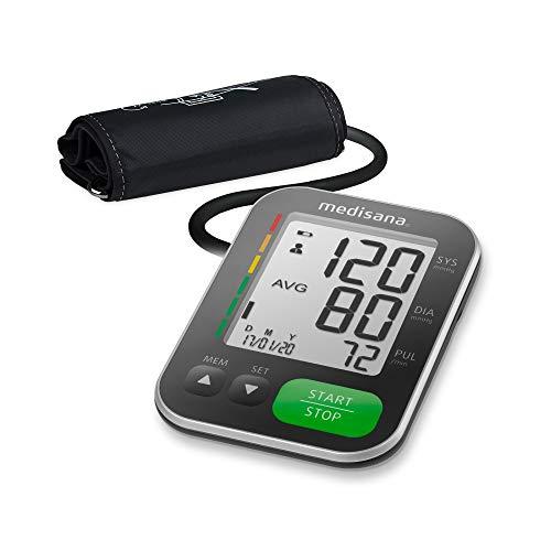 Medisana BU 565 tensiómetro para el brazo, pantalla de arritmia, escala de colores de los semáforos de la OMS, función IHB, para una medición precisa de la presión sanguínea y medición del pulso