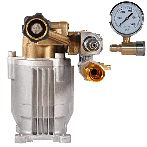 "YAMATIC 3300 PSI 3/4"" Shaft Horizontal Pump with Pressure Washer Gauge"