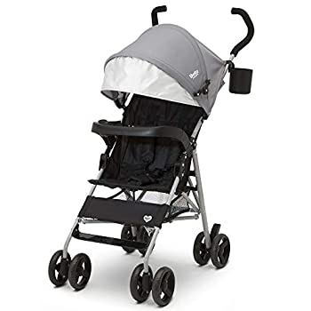 Delta Children 365 Lightweight Stroller - Extremely Lightweight Stroller - Weighs Only 12 lbs - Ideal for Travel or Everyday Use Grey