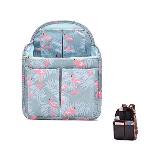 HOYOFO Backpack Organizer Insert Travel Backpack Purse Organizer for Mens and Womens Shoulder Bags, Flamingo